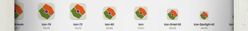 iOS application icon naming conventions