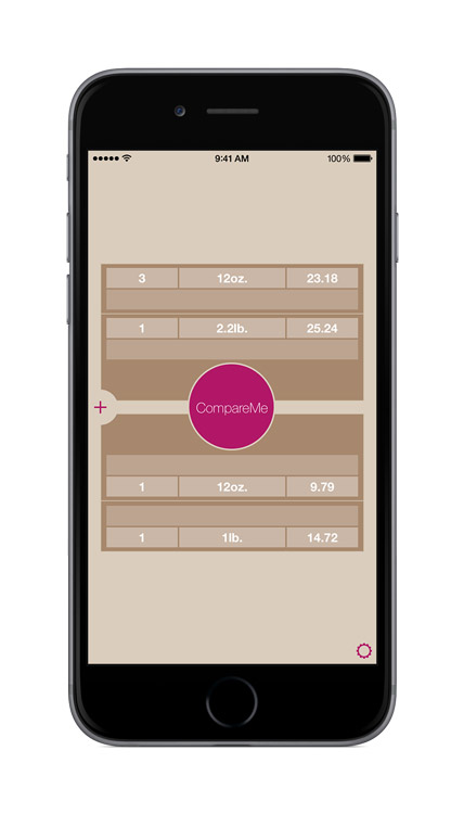CompareMe V3.0 main screen neutral