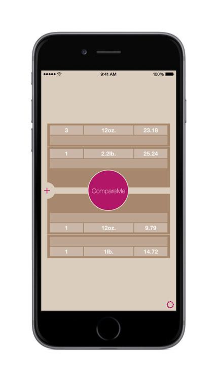 CompareMe V3.0 main screen neutral